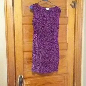 Sleeveless purple cheetah print dress